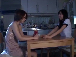 Slutty Horny Depraved Lesbian School Bang-out in Japan