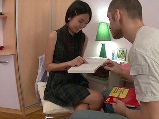 Asian Schoolgirl Anfisa Stuffed And Fucked Until She Cums