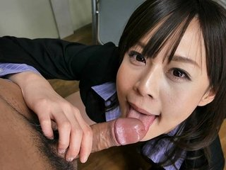 Japanese secretary, Asuka Kyono sucks dick, roundish