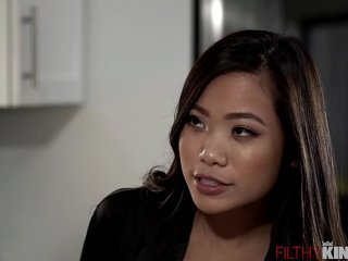 Slutty Asian Step Keep alive Vina Sky Seduces Blistering Step-Bro with Nautical galley