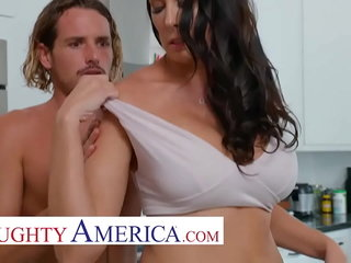 Unruly America - Hot Mom Reagan Foxx fucks plus sucks out of reach of young cock