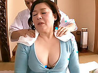 Cuffed Chubby Asian & Mature Pornstar