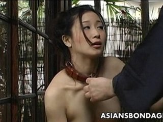 Asian slut loves to be treated like a bitch