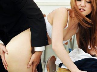 Sakamoto Hikari teases her teacher with her supple body